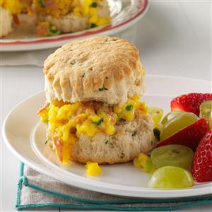 Prosciutto & Cheddar Breakfast Biscuits Recipe