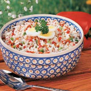 Hot German Rice Salad Recipe