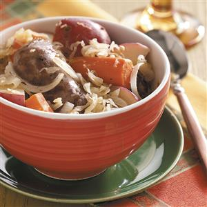 Sausage Sauerkraut Supper Recipe