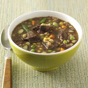 Cubed Beef and Barley Soup Recipe