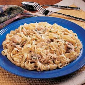 Chicken Mushroom Fettuccine Recipe