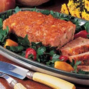Apple-Ham Confetti Loaf Recipe