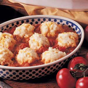 Cheddar Tomato Dumplings Recipe