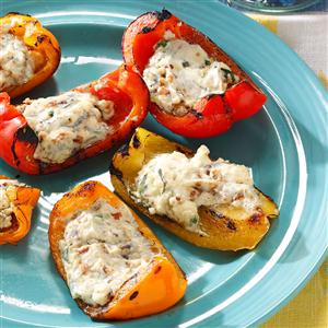 Blue Cheese & Bacon Stuffed Peppers Recipe