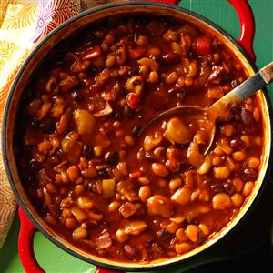 Tangy Baked Seven Beans Recipe