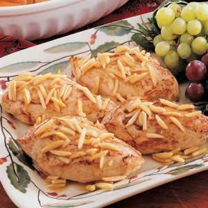 Almond-Topped Chicken Recipe
