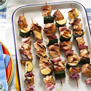 Marinated Chicken & Zucchini Kabobs Recipe