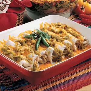 Beef and Bean Green Chili Burritos Recipe