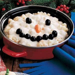 Cauliflower Snowman Recipe