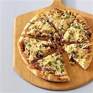 BBQ Brisket Flatbread Pizzas Recipe
