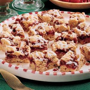 Raspberry Nut Bars Recipe