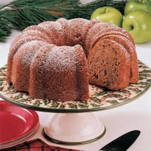 Walnut Apple Bundt Cake Recipe