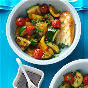 Grilled Vegetable Salad with Poppy Seed Dressing Recipe