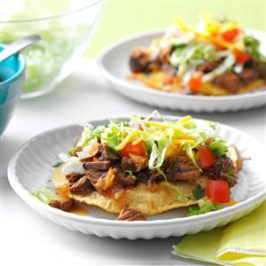 Slow Cooker Beef Tostadas Recipe