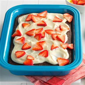 Cola Cake with Strawberries & Cream Recipe