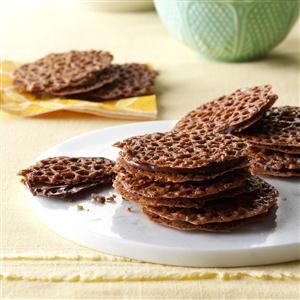 Chocolate Lace Cookies Recipe