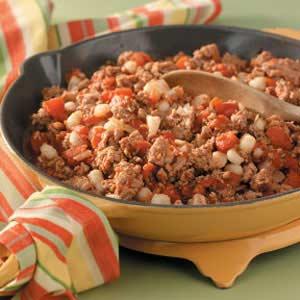 Ground Turkey and Hominy Recipe