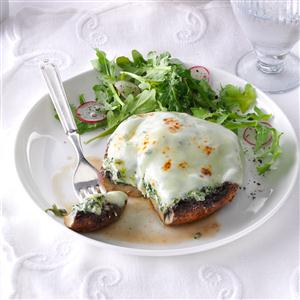 Broiled Cheese Stuffed Portobellos Recipe