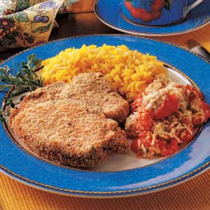 Breaded Pork Chops for Two Recipe