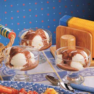 Chocolate Pudding Sundaes