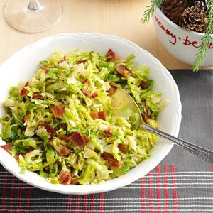 Brussels Sprouts with Bacon & Garlic Recipe