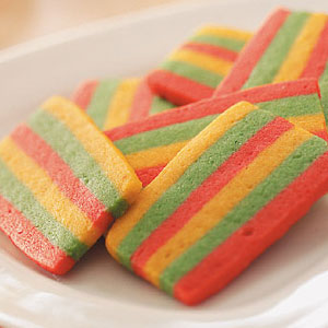Rainbow Butter Cookies Recipe
