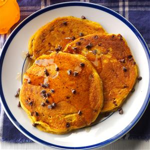 Pumpkin-Chocolate Chip Pancakes Recipe