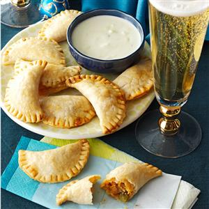 Buffalo Chicken Empanadas with Blue Cheese Sauce Recipe