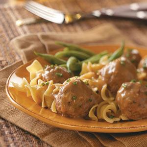 Not only do I get as giddy as a schoolgirl about IKEA's bookshelves and massive shelves piled high with kitchen tools, baskets, and picture frames I am addicted, yes addicted, to their Swedish Meatballs .