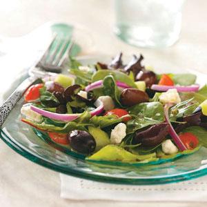 Greek Salad with Greek Artisan's Olives Recipe