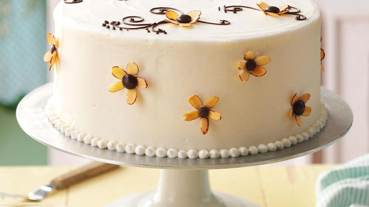 Amaretto Cake With Buttercream Frosting Recipe Taste Of Home