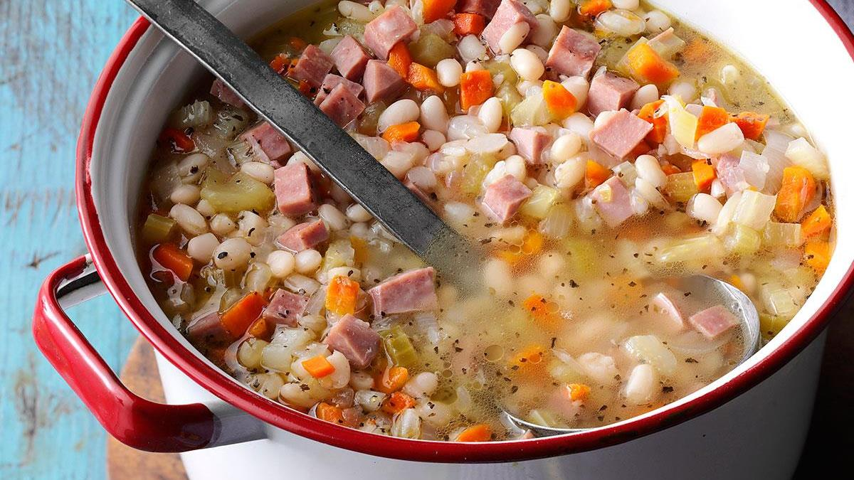 Campfire Bean N Ham Soup Recipe How To Make It Taste Of Home
