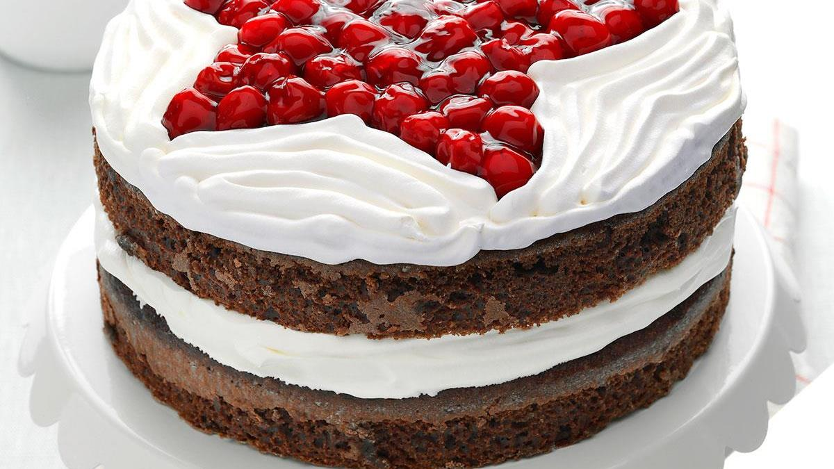 Chocolate Cherry Layer Cake Recipe How To Make It Taste Of Home