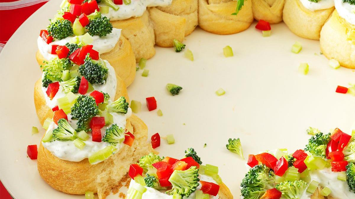 Appetizer Wreath Recipe | Taste of Home