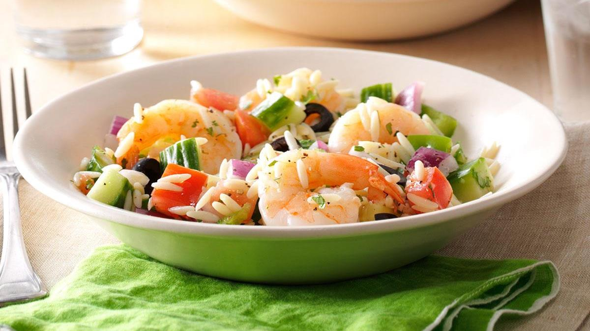 Orzo Salad with Shrimp