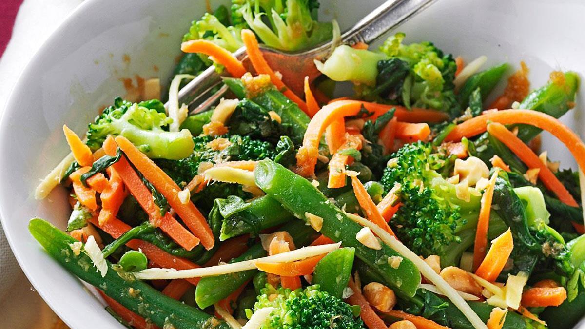 Ginger Sesame Steamed Vegetable Salad Recipe