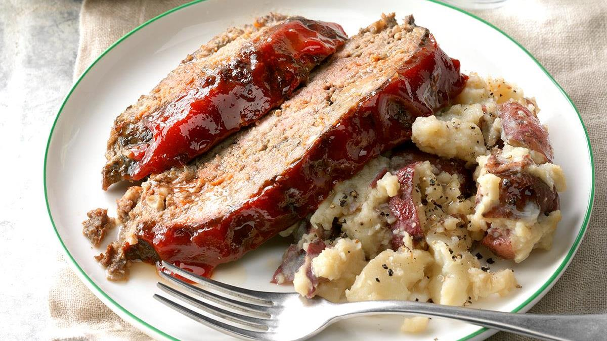 Meat Loaf Mashed Red Potatoes Recipe Taste Of Home