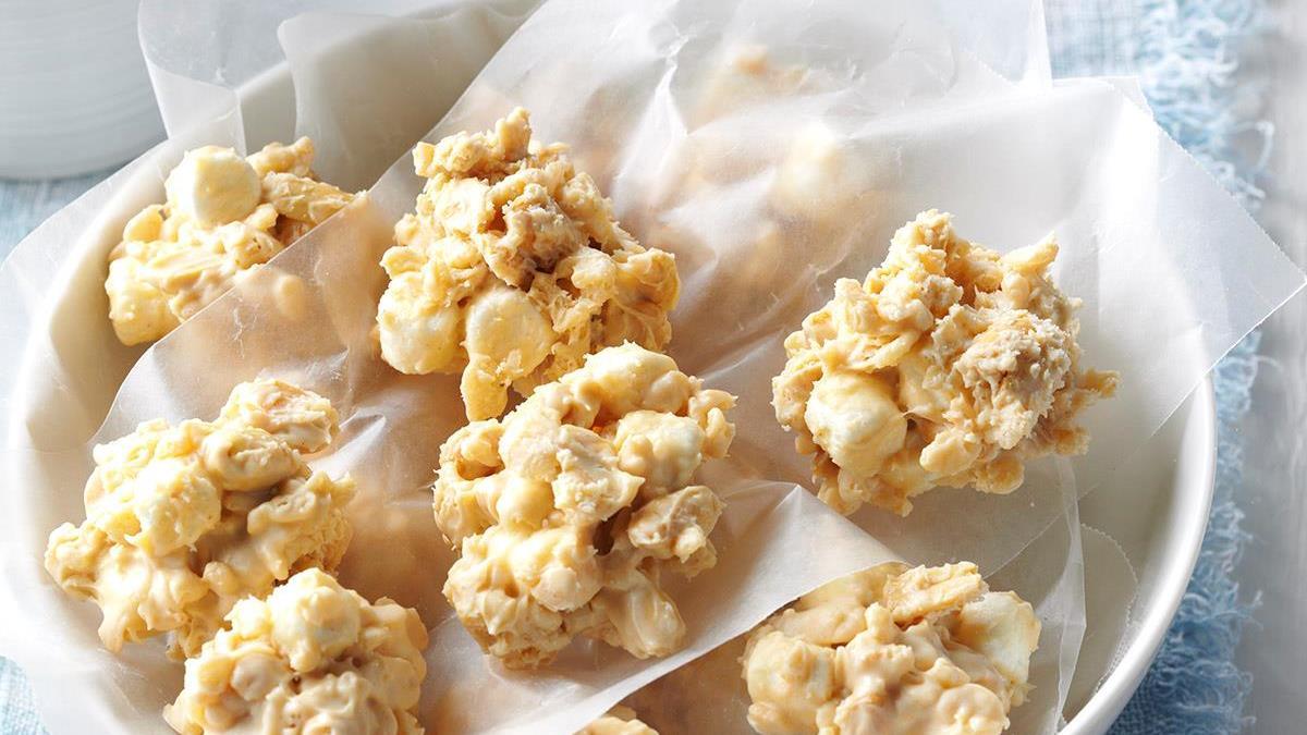 Nutty Rice Krispie Cookies Recipe Taste Of Home Kripiss Medan Karamel