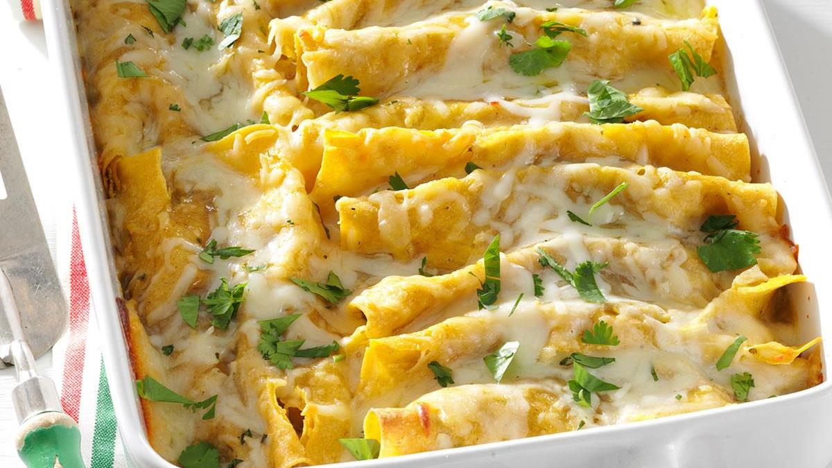 Shrimp Enchiladas With Green Sauce Recipe How To Make It Taste Of Home