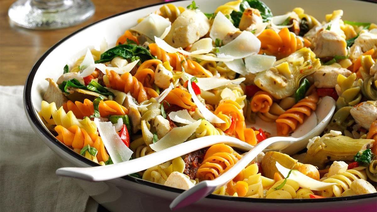 Mediterranean Chicken Pasta Recipe How To Make It Taste Of Home