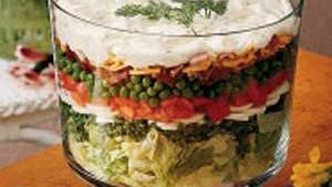 Pea Salad Recipe Layered