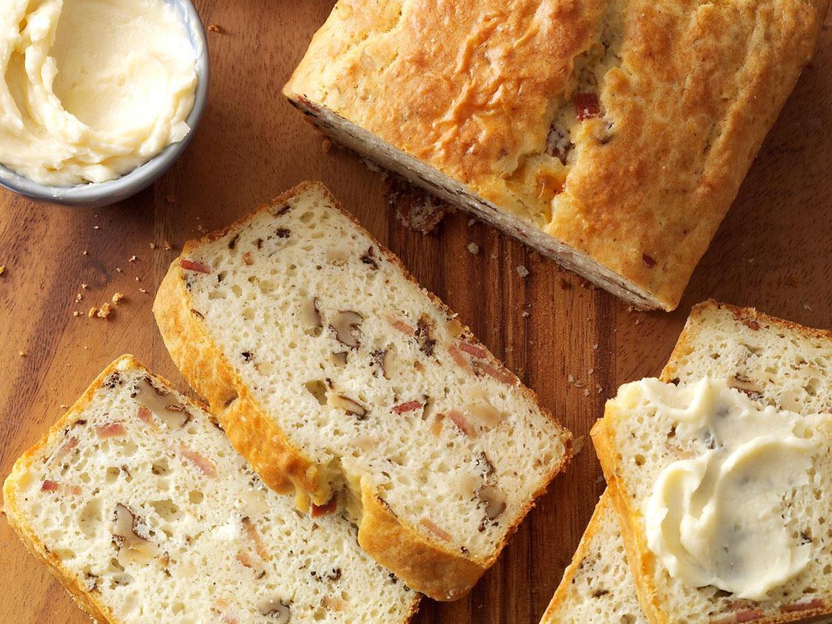 Bacon Walnut Bread With Honey Butter Recipe Taste Of Home