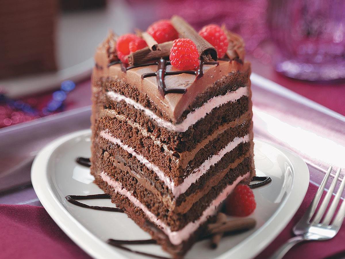 Surprising Best Chocolate Raspberry Torte Recipe Taste Of Home Personalised Birthday Cards Arneslily Jamesorg
