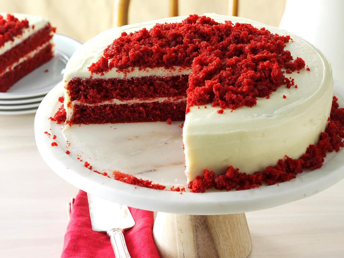 Blue Ribbon Red Velvet Cake Recipe How To Make It Taste Of Home