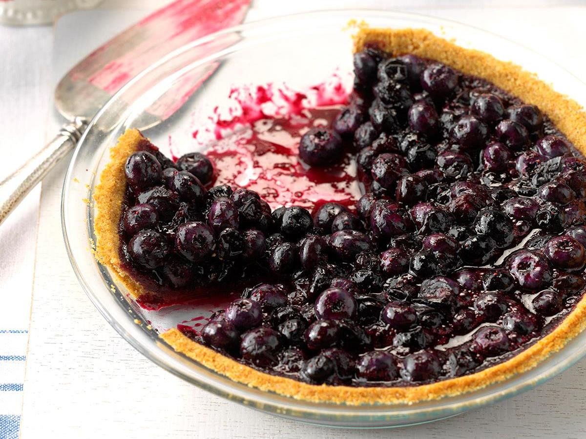 Blueberry Pie With Graham Cracker Crust Recipe How To Make It Taste Of Home