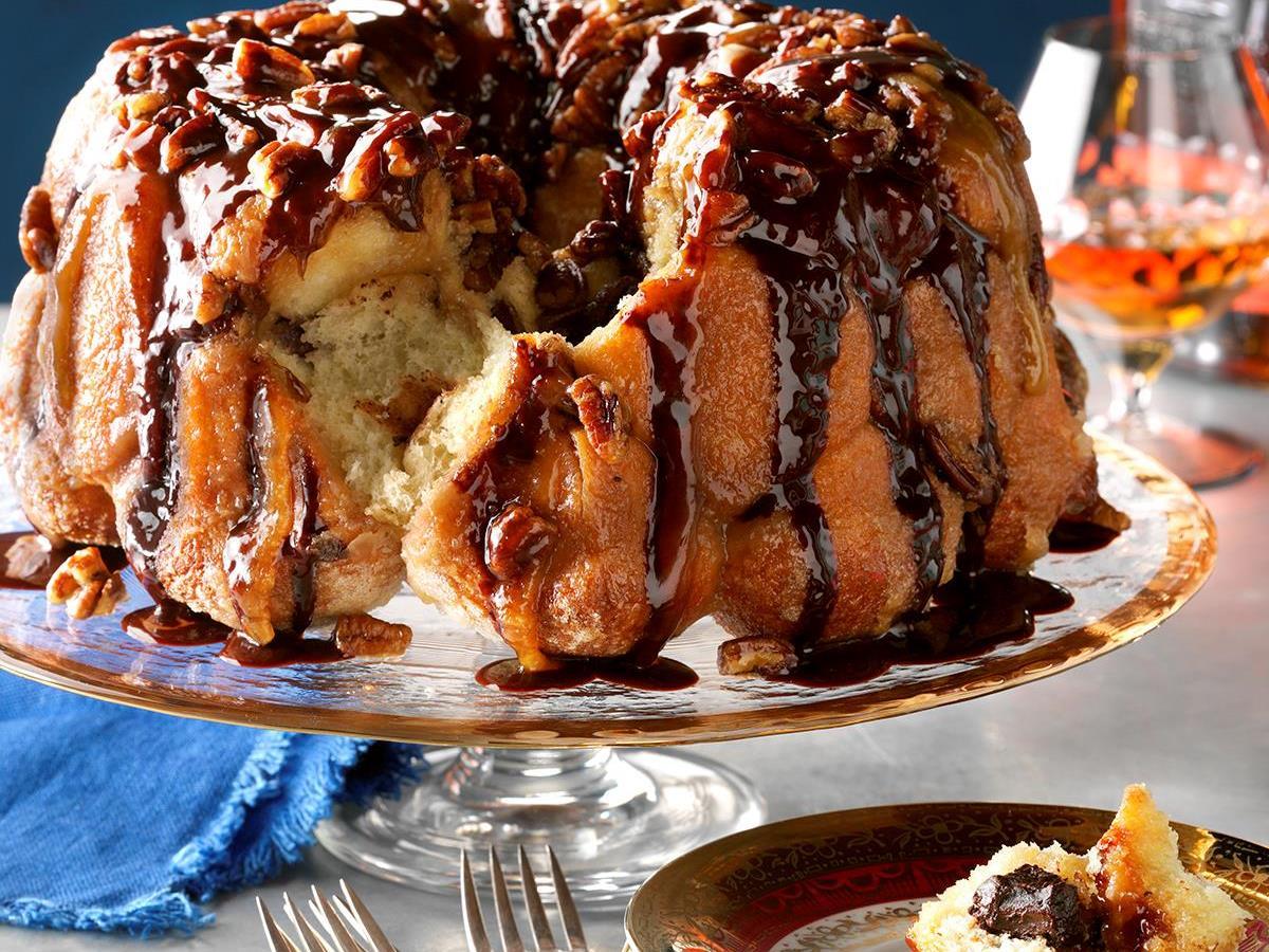 Chocolate Bourbon Pecan Monkey Bread