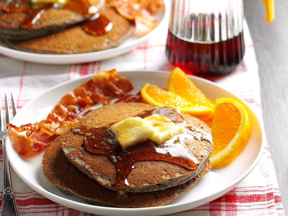 Buttermilk Buckwheat Pancakes Recipe How To Make It Taste Of Home