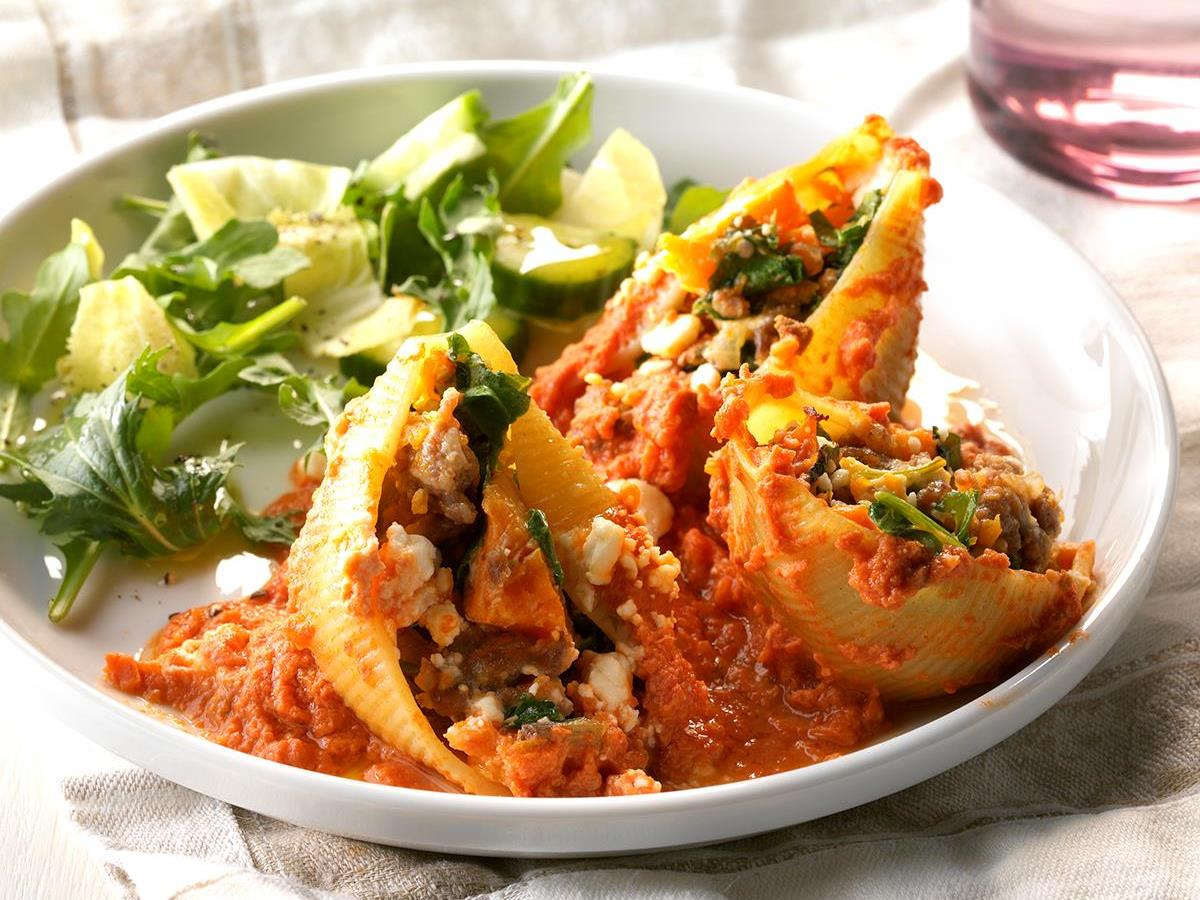 Butternut Squash and Sausage Stuffed Shells
