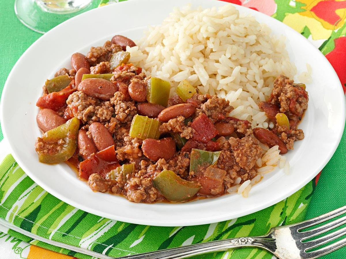 Cajun Beef And Beans Recipe How To Make It Taste Of Home
