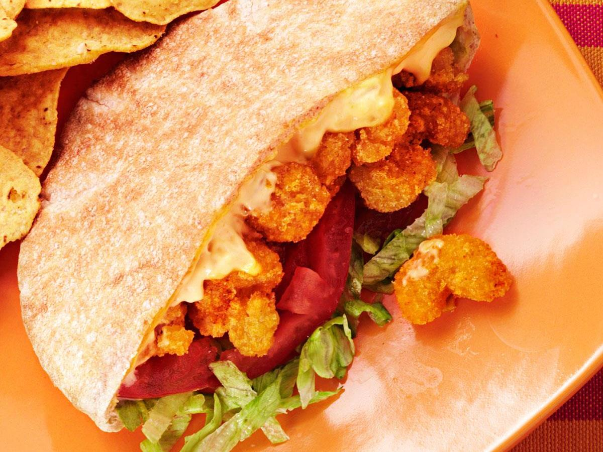 Cajun Popcorn Shrimp Sandwiches Recipe How To Make It Taste Of Home